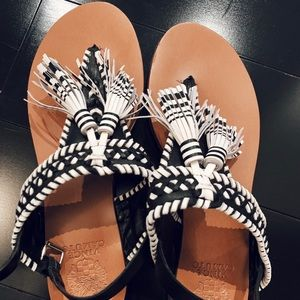 Vince Camuto B/W Polkadot Sandals